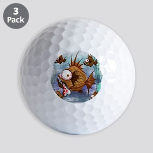 Psycho Fish Piranha Golf Balls