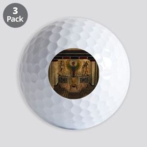 Awesome pyramid with throne Golf Ball