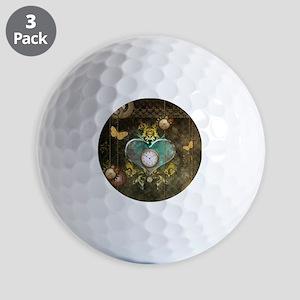 Steampunk, noble design Golf Ball