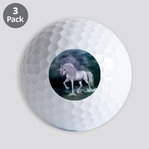 Wonderful unicorn on the beach Golf Ball