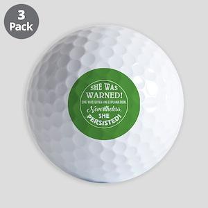 SHE WAS WARNED! Golf Ball