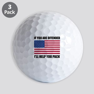 Offended USA Flag Help Pack Golf Ball