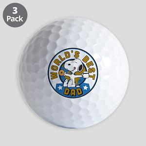 Peanuts Greatest Dad Golf Balls