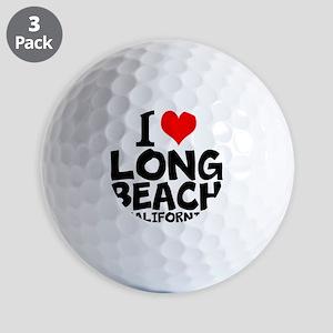 I Love Long Beach, California Golf Ball