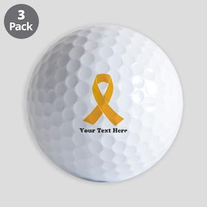 Gold Ribbon Awareness Golf Balls