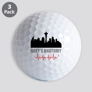 Grey's Anatomy Seatle Golf Balls