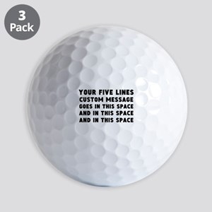 Five Lines Text Customized Golf Balls