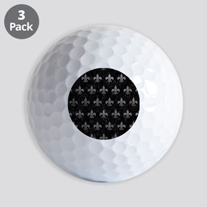 ROYAL1 BLACK MARBLE & GRAY LEATHER (R) Golf Balls