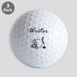 Writer Books and Quill Golf Ball