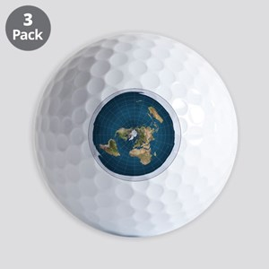 Flat Earth Map Flat Earther Globe Golf Ball