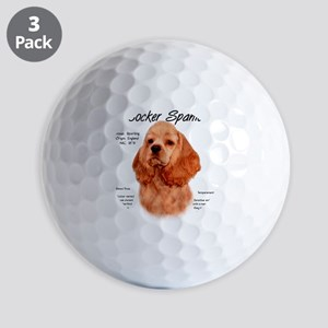 Cocker Spaniel (red) Golf Balls