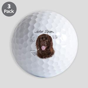 Cocker Spaniel (brown) Golf Balls
