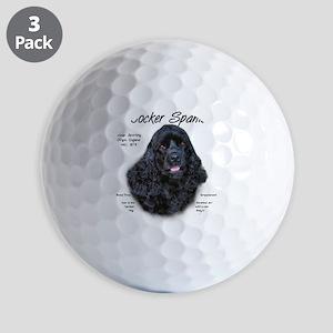 Cocker Spaniel (black) Golf Balls