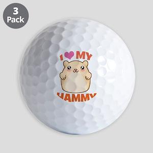 I Love My Hammy Golf Balls