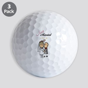 Just Married 50 years ago Golf Balls