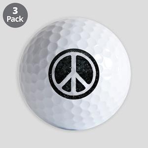 Original Vintage Peace Sign Golf Balls