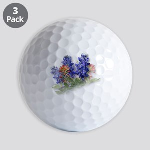Bluebonnets with Indian Paint Golf Balls