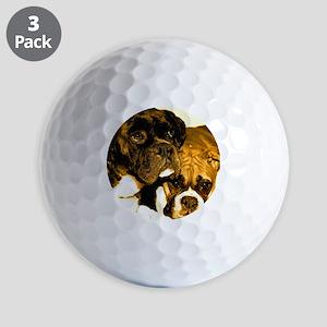 Boxer Dog Friends Golf Balls
