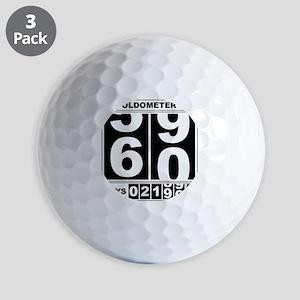 60th Birthday Oldometer Golf Balls