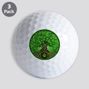 Circle Celtic Tree of Life Golf Balls