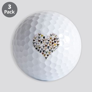 Chicken Heart Golf Ball
