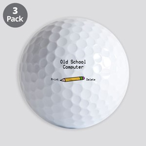 Old School Computer Original Golf Balls