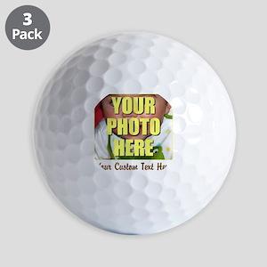 Custom Photo and Text Golf Balls