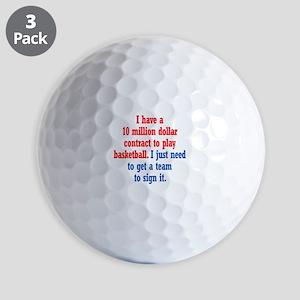 Basketball Contract Golf Balls