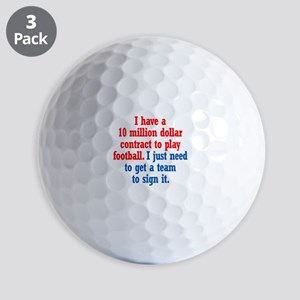 Football Contract Golf Balls