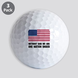One Nation Under God Golf Balls