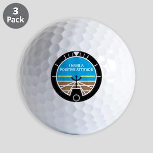 I Have a Positive Attitude Golf Balls
