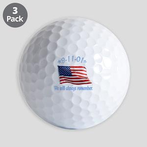 9/11 Tribute - Always Remember Golf Balls