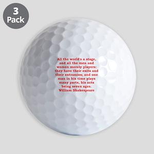 william shakespeare Golf Balls