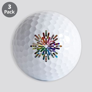 Skateboard Art Mandala Golf Balls