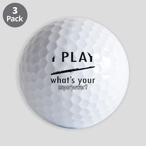 Cool Flute Designs Golf Balls