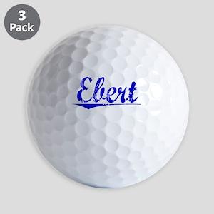 Ebert, Blue, Aged Golf Balls
