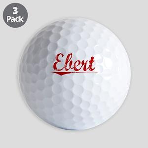 Ebert, Vintage Red Golf Balls