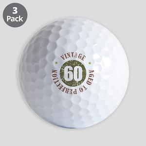 60th Vintage birthday Golf Balls