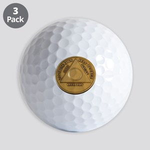 Alcoholics Anonymous Anniversary Chip Golf Ball
