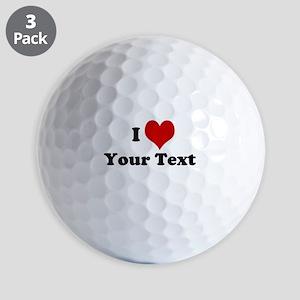 Customized I Love Heart Golf Balls