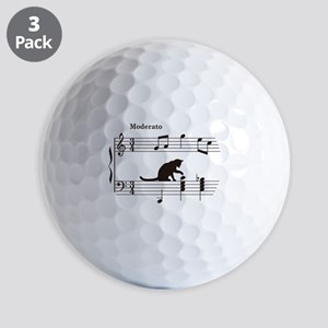 Cat Toying with Note v.2 Golf Balls