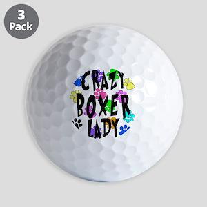 Crazy Boxer Lady Golf Balls