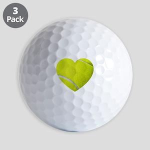 Tennis Heart Golf Ball