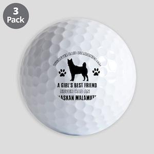 Alaskan Malamute Mommy designs Golf Balls