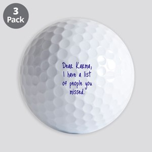 Karma List Golf Ball
