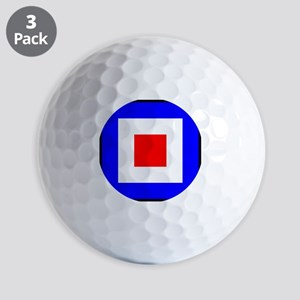 Nautical Flag Code Whiskey Golf Ball