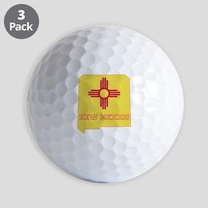 New Mexico Flag Golf Balls