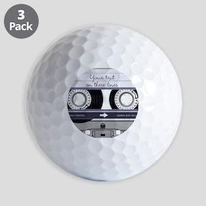 Customizable Cassette Tape - Grey Golf Balls
