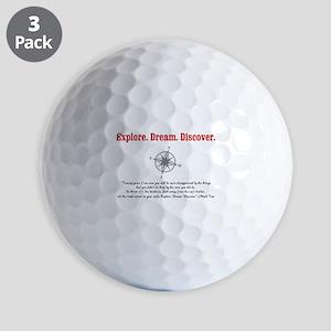 Explore. Dream. Discover. Golf Ball