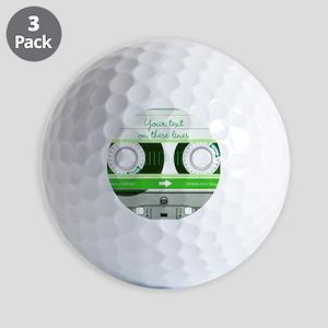 Cassette Tape - Green Golf Balls